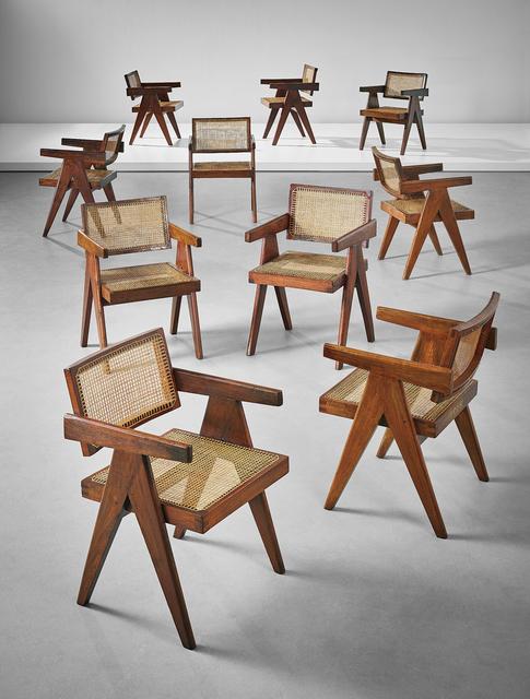 Pierre Jeanneret, 'Ten armchairs', 1955-1956, Phillips