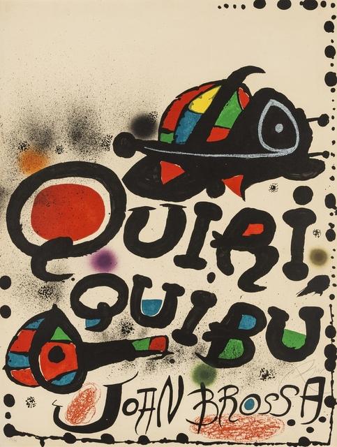 Joan Miró, 'Quiriquibú (Mourlot 1100)', 1976, Forum Auctions