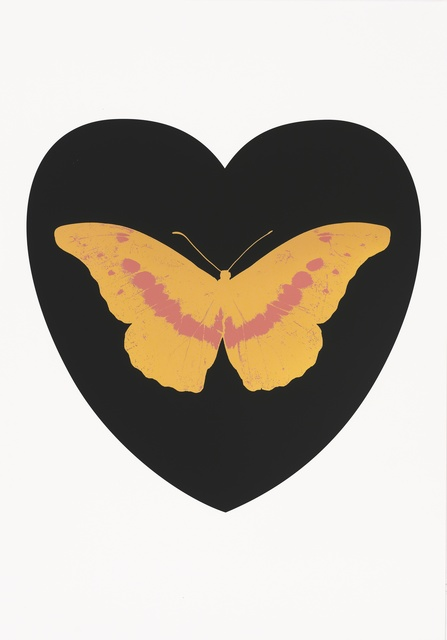Damien Hirst, 'I Love You - black, cool gold, loganberry ', 2015, Paul Stolper Gallery
