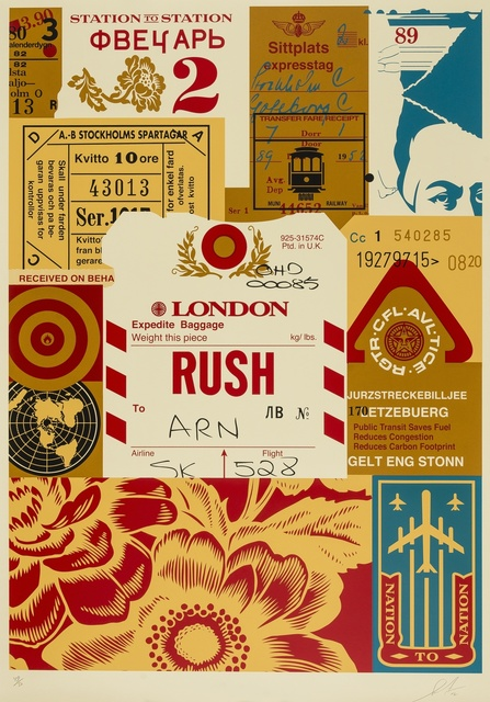 Shepard Fairey, 'Station to Station 4', 2012, Print, Screenprint in colours, Forum Auctions