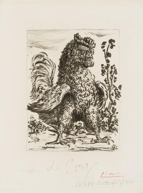 Pablo Picasso, 'Le Coq (Baer 591 II A/C: Bloch 344)', 1936, Forum Auctions
