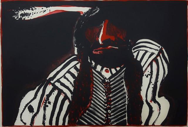 Fritz Scholder, 'Indian with Red Button', 1972, Graves International Art