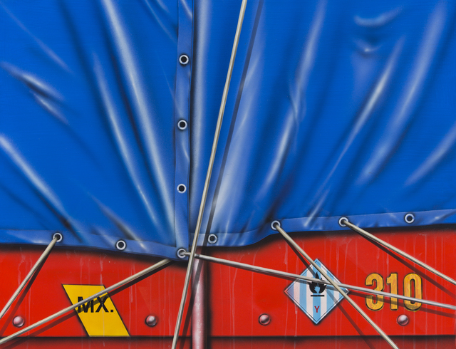 Peter Klasen, 'Camion Baché Bleu ', 1989, Galerie Christiane Vallé
