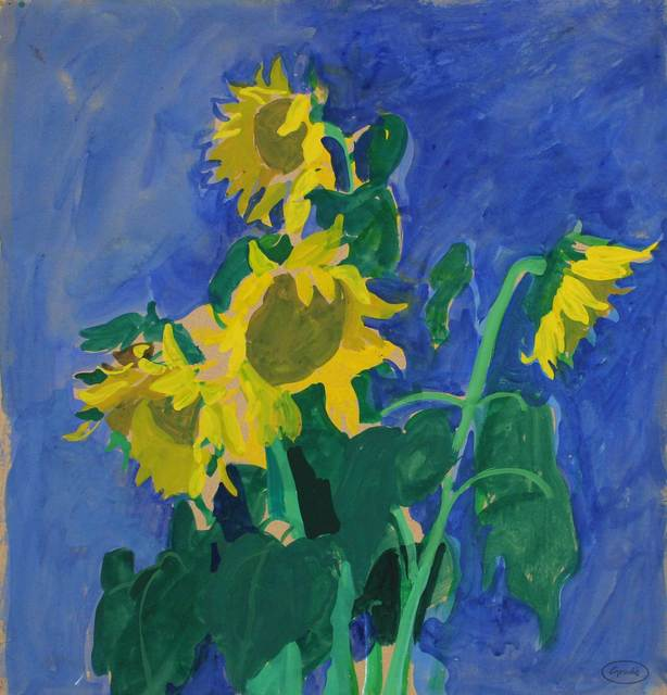 , 'Sunflowers,' c. 1980, Mall Galleries