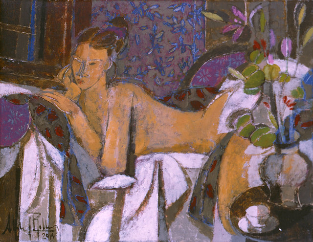, 'Desnudo con Flores,' 2014, Albemarle Gallery   Pontone Gallery