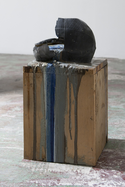 , 'Imploded Ball Barf (pitched bladder, blue and grey),' 2011, Nina Johnson