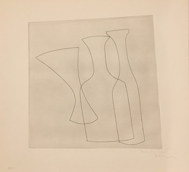 Ben Nicholson, 'Two Bottles and a Glass ', 1969, Galerie Céline Moine & LGFA