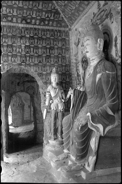 , 'Mogao Cave 393, Sui dynasty (581–618). Dunhuang, Gansu province. The Lo Archive,' Photograph taken in 1943–44, Princeton University Art Museum