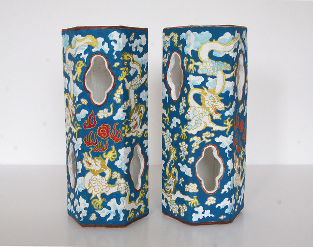 , 'Blue Ground Dragon Hexagonal Hat Stands,' 2013, Galerie Hugues Charbonneau