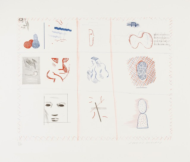David Hockney, 'Franco-American Mail (from The Blue Guitar) (M.C.A. Tokyo 182)', 1976-77, Forum Auctions