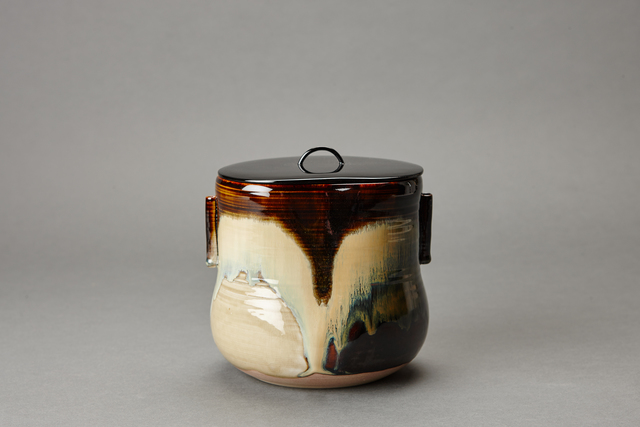 , 'Water container (mizusashi) with lacquer lid, cylindrical handles, and kakewake,' , Pucker Gallery
