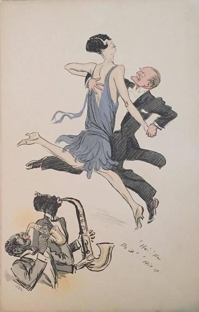 """Georges Goursat, 'Rare Vintage Art Deco """"White Bottoms""""  Lithograph Pochoir', 20th Century, Lions Gallery"""
