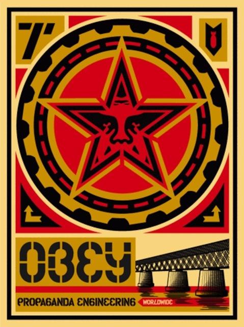 Shepard Fairey (OBEY), 'Propaganda Engineering Large Format', 2009, Gregg Shienbaum Fine Art