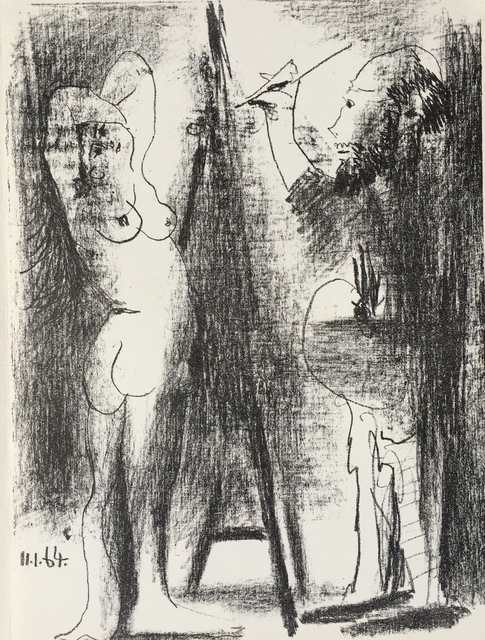 Pablo Picasso, 'Le Peintre et son Modele (B. 1846)', 1964, Denis Bloch Fine Art