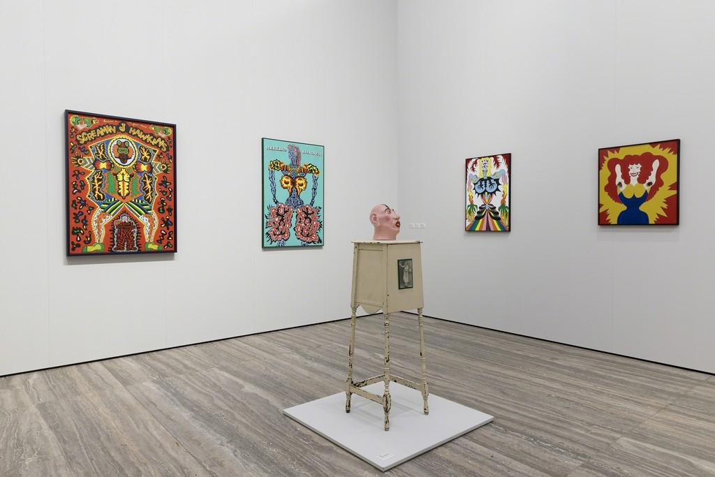 "View of the exhibition ""Famous Artists from Chicago. 1965-1975"" Artworks by Karl Wirsum Fondazione Prada, Milan 20 October 2017 - 15 January 2018 Photo Roberto Marossi Courtesy Fondazione Prada"