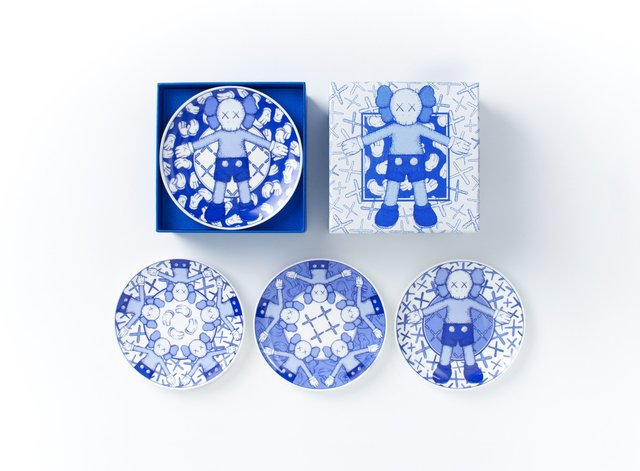 , 'KAWS:HOLIDAY Limited Ceramic Plate Set (Set of 4),' 2019, Gin Huang Gallery