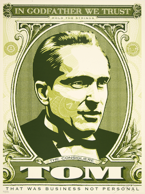 Shepard Fairey (OBEY), 'Tom (God Father Matching Numbers Set)', 2006, Heather James Fine Art Gallery Auction