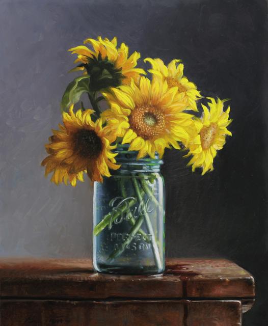 , 'Ball Jar and Sunflowers,' 2019, William Baczek Fine Arts