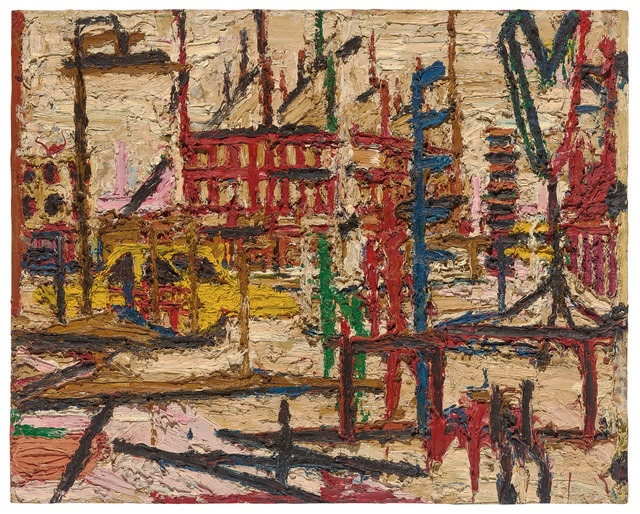 Frank Auerbach, 'Mornington Cresent', 1965, Painting, Oil paint on board, Tate Britain