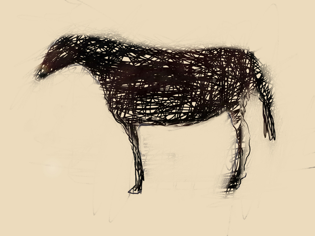 , 'Horse with Scratches,' 2015, Turner Carroll Gallery