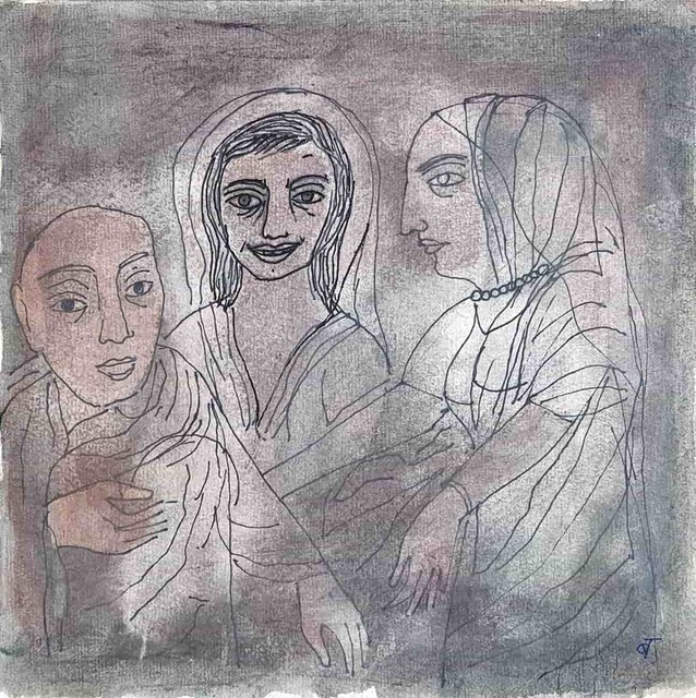 "Badri Narayan, 'Untitled, Drawing, Watercolor, Ink & Mixed Media on Paper by Modern Artist ""In Stock""', ca. Circa, Gallery Kolkata"