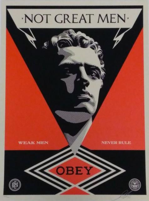 Shepard Fairey, 'Not great Men', 2013, DIGARD AUCTION
