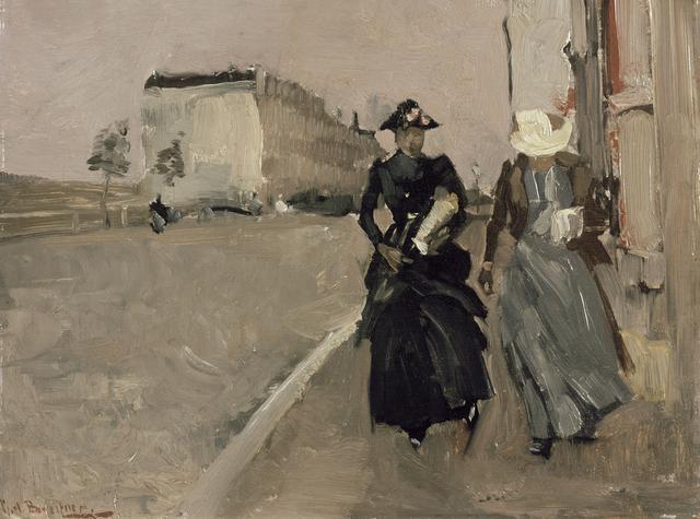 George Hendrik Breitner, 'Gust of wind', 1886/1898, Kröller-Müller Museum