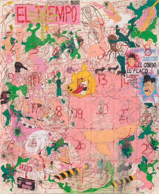 , 'Any September Is a Black September Down Here (El Tiempo),' 2013, Steve Turner