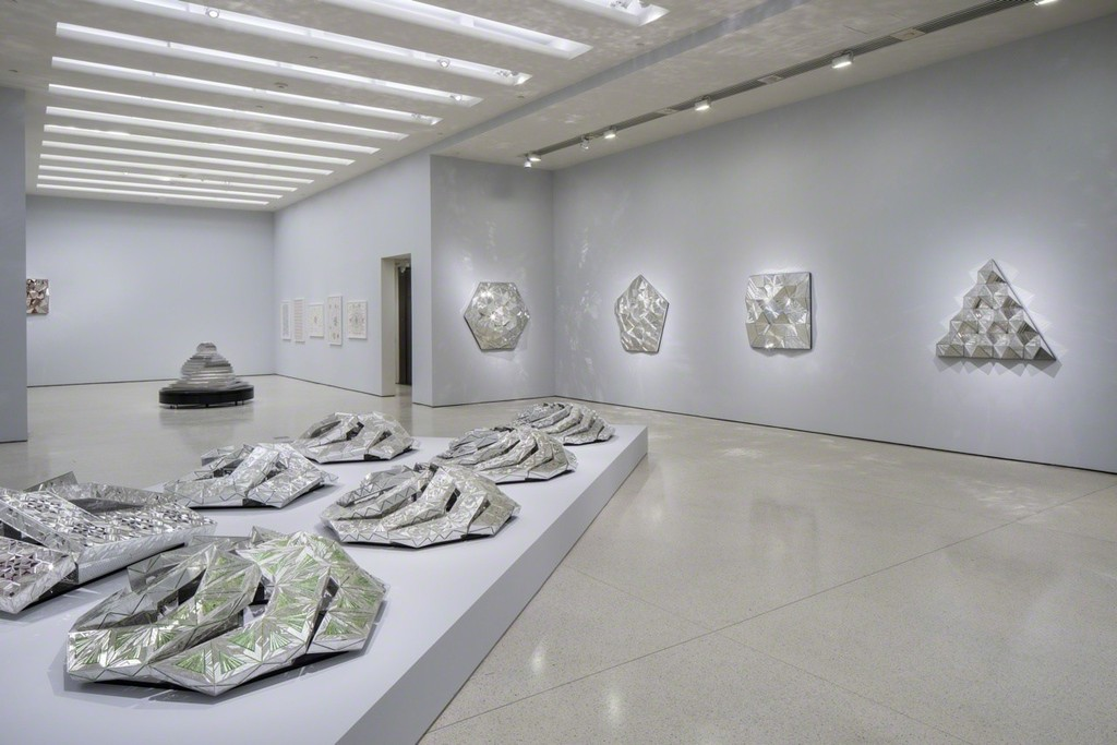 Installation view: Monir Shahroudy Farmanfarmaian: Infinite Possibility. Mirror Works and Drawings 1974–2014, Solomon R. Guggenheim Museum, New York, March 13–June 3, 2015 