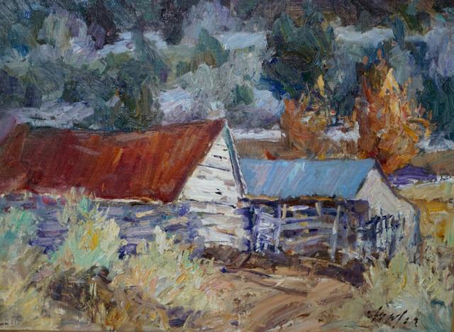 , 'Taos Barns ,' 2017, Wally Workman Gallery