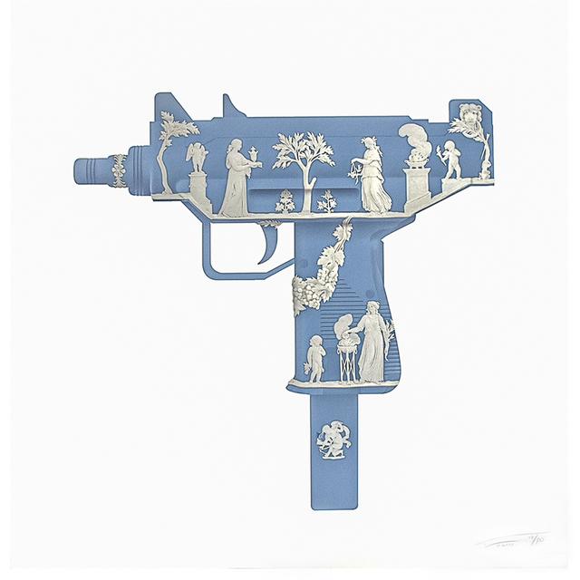 Magnus Gjoen, 'POMPEII BLUE UZI', 2014, Silverback Gallery