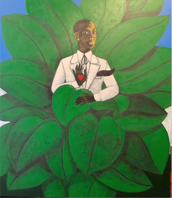 Abe Odedina, 'Master Key', 2021, Painting, Acrylic on plywood, Nil Gallery