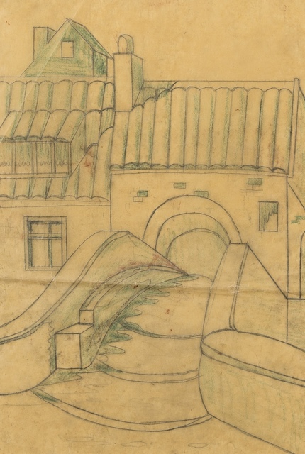 Ursula Fookes, 'Village', Drawing, Collage or other Work on Paper, Pencil on tracing paper, Forum Auctions