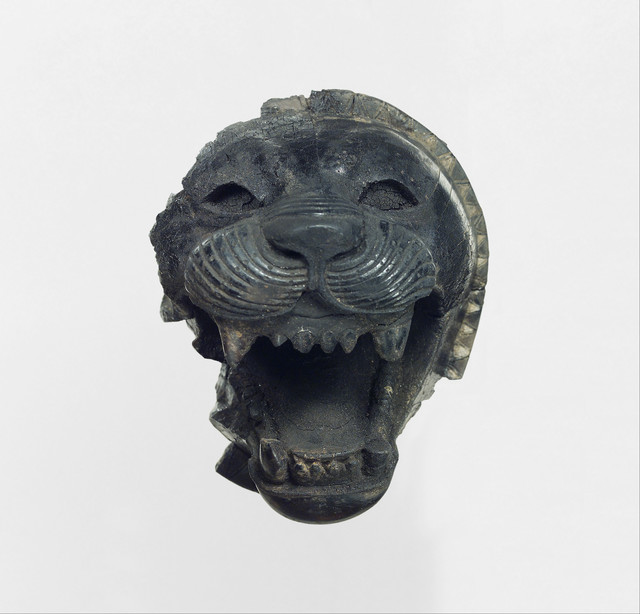 Unknown Assyrian, 'Furniture element carved in the round with the head of a roaring lion', ca. 9th–8th century B.C., The Metropolitan Museum of Art