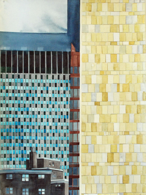 , 'Collaged Le Corbusier, NYC,' 2017, Jonathan Ferrara Gallery