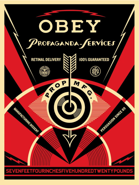 Shepard Fairey, 'Propoganda Eye Services', 2014, Art for ACLU Benefit Auction