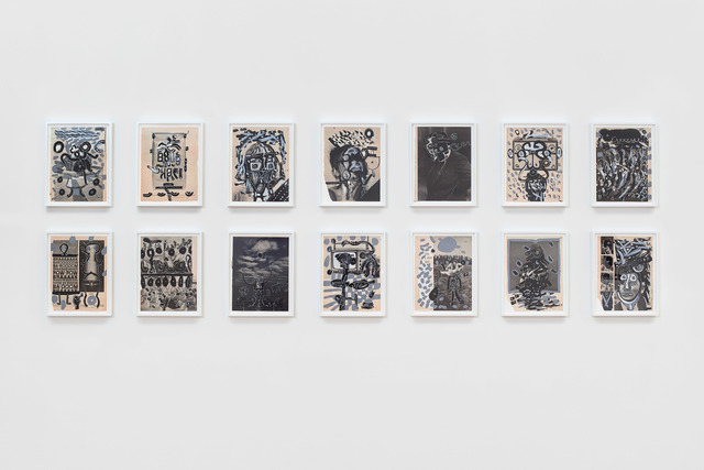 , 'A suite of 14 works on paper,' 1963, James Cohan