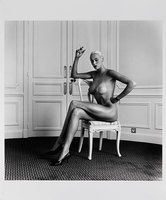 Helmut Newton, Portrait of Birgit Nielsen, sitting.
