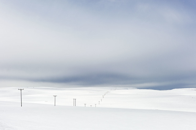 , 'Power Lines in Snow, Close to North Cape, Norway, Spring,' 2014, Weinstein Gallery - Minneapolis