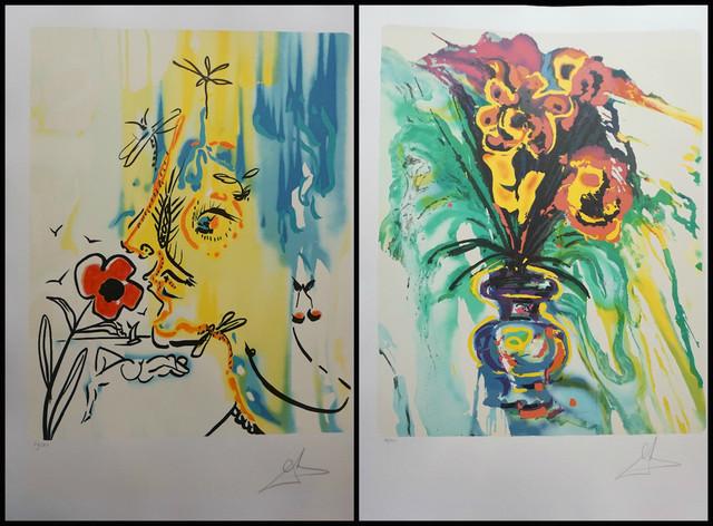 Salvador Dalí, 'Fleurs Surrealiste Suite Gala's Bouquet & Vanishing Face', 1980, Fine Art Acquisitions