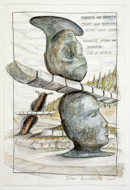 Ilan Averbuch, 'Dreams and Gravity (sketch for realized public art sculpture) ', 2014, Khawam Gallery