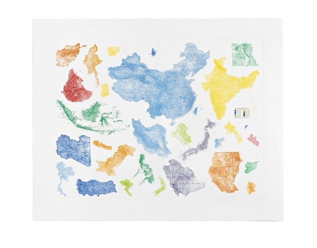 , 'Proposal for a Map of the World,' 2015, STPI