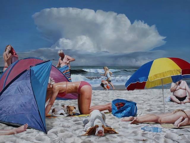 , 'Dogsbeach,' 2015, GALERIE URS REICHLIN