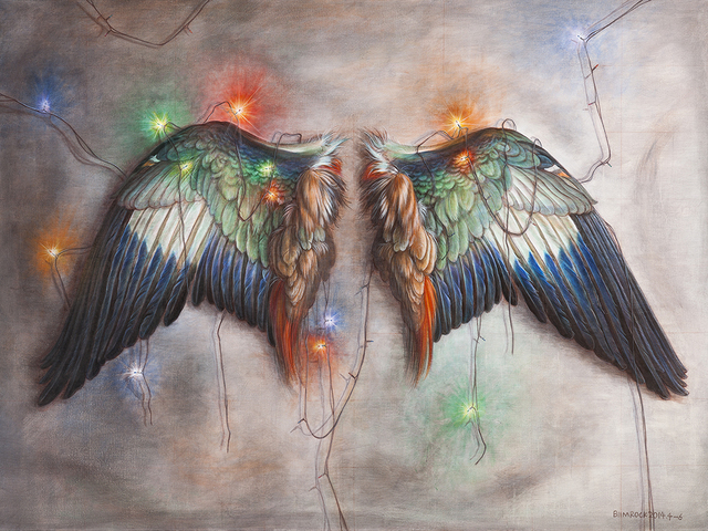 Biimrock 石磊, 'Wings', 2014, Painting, Acrylic on canvas 布面丙烯, Line Gallery
