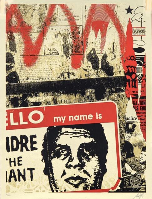 Shepard Fairey, 'Hello my name is', 2019, AYNAC Gallery