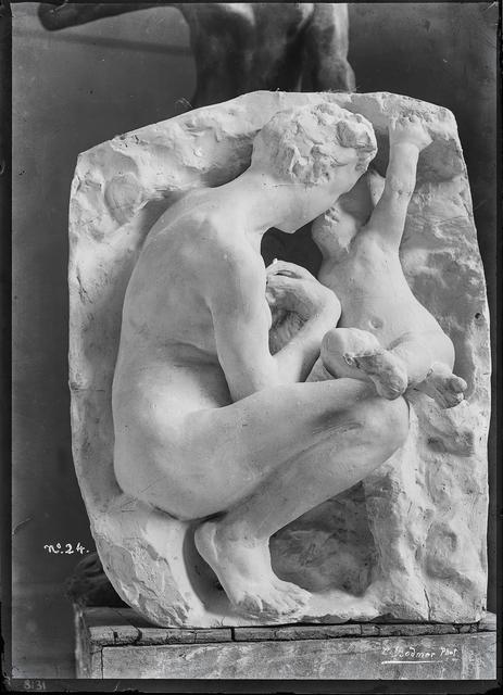 , 'Jeune mère à la grotte en plâtre (Young mother in grotto in plaster),' c. 1885, Musée Rodin