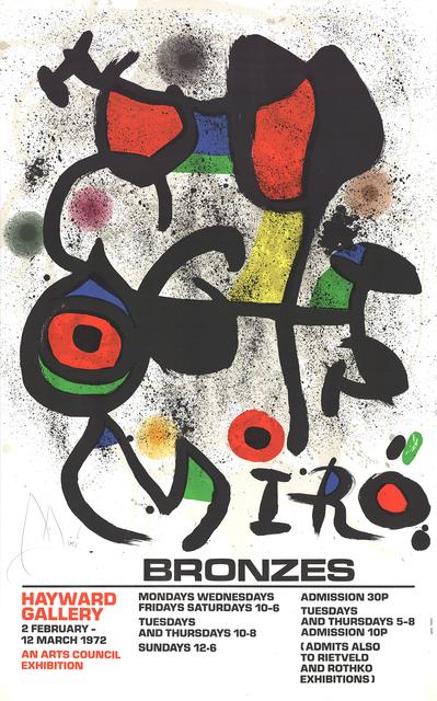 Joan Miró, 'Bronzes', 1972, ArtWise