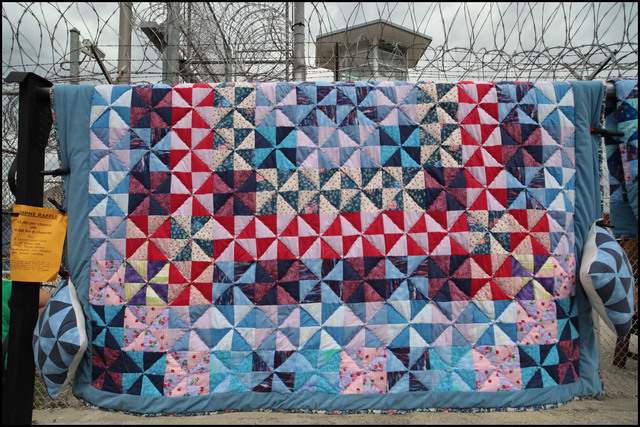 ", '""The Quilt"" made by members/ inmates and caregivers in the Angola Hospice program,' 2013, Prospect New Orleans"