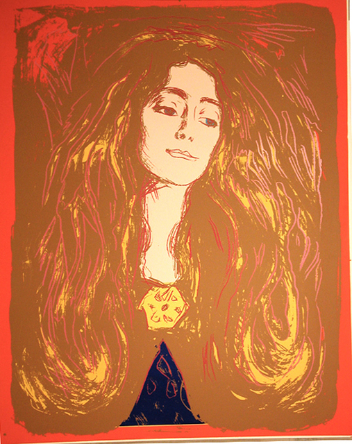 , 'Eve Mudocci (After Munch),' 1984, Woodward Gallery