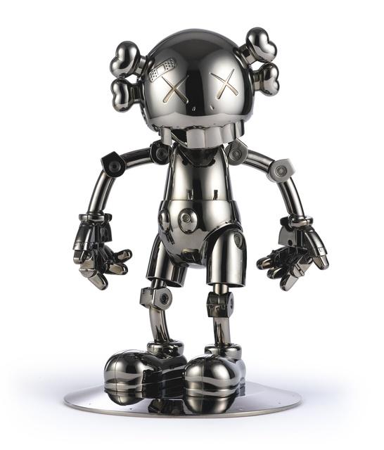 KAWS, 'KAWS X HAJIME SORAYAMA NO FUTURE COMPANION (BLACK CHROME)', 2008, Sculpture, Metallized Plastic, Marcel Katz Art